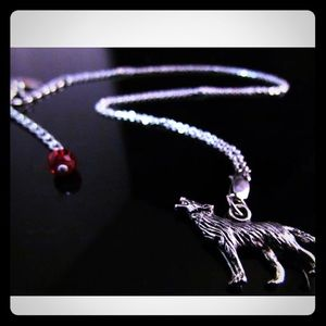stainless wolf necklace RLDesigns
